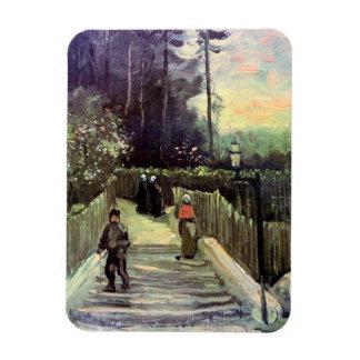 Vincent Van Gogh - Sloping Path In Montmartre Magnet