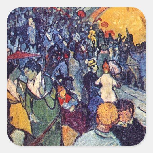 Vincent Van Gogh - Spectators In The Arena Square Sticker