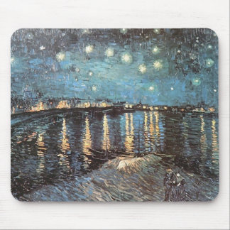 Vincent Van Gogh - Starlight Over the Rhone Mouse Pad