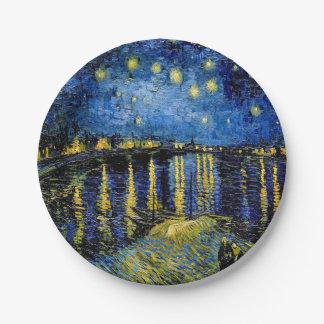 Vincent Van Gogh Starry Night 1888 Paper Plates