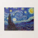 "VINCENT VAN GOGH - Starry night 1889 Jigsaw Puzzle<br><div class=""desc"">VINCENT VAN GOGH - Starry night 1889