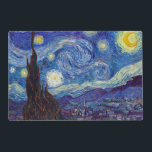"VINCENT VAN GOGH - Starry night 1889 Placemat<br><div class=""desc"">VINCENT VAN GOGH - Starry night 1889