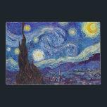 "VINCENT VAN GOGH - Starry night 1889 Placemat<br><div class=""desc"">VINCENT VAN GOGH - Starry night 1889 Oil on canvas</div>"