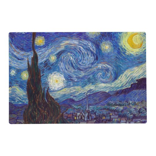 Vincent Van Gogh Starry Night 1889 Placemat