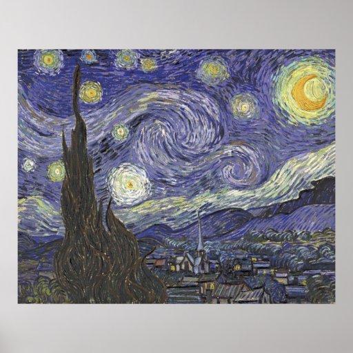 Vincent van Gogh - Starry Night 2 Poster
