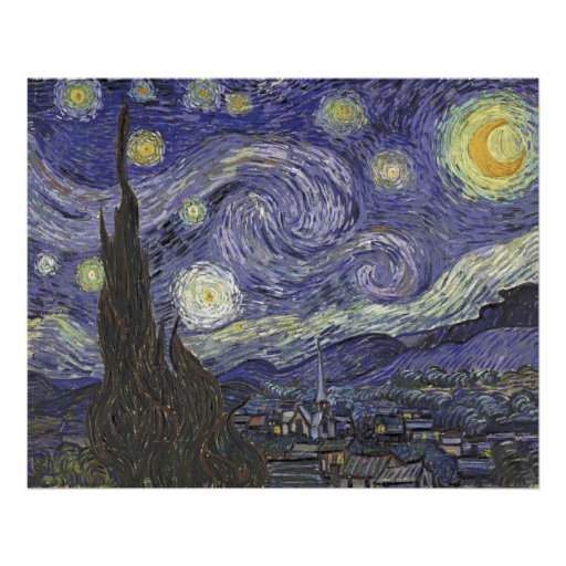 Vincent van Gogh - Starry Night 2 Posters