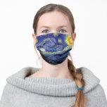 "Vincent Van Gogh Starry Night Adult Cloth Face Mask<br><div class=""desc"">Vincent Van Gogh Starry Night</div>"