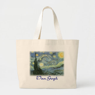 Vincent Van Gogh - Starry Night Tote Bags
