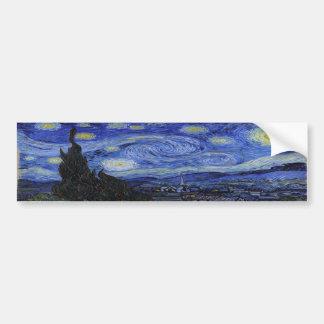 Vincent Van Gogh Starry Night Bumper Sticker