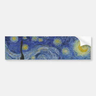 Vincent Van Gogh - Starry Night Bumper Sticker