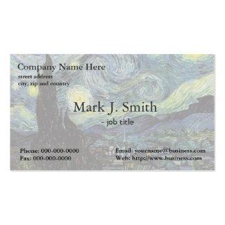 Vincent van Gogh, Starry Night Business Card