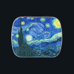 """vincent van gogh starry night candy tin<br><div class=""""desc"""">Van Gogh&#39;s famous painting,  &quot;The Starry Night.&quot; Painted during his stay at the Saint Remy asylum in the 1880&#39;s,  van Gogh depicted the rolling hills and cypress trees he saw from his window.  Digitally enhanced by PixDezines.  Copyright &#169; 2008-2016 PixDezines.com™ and PixDezines™ on zazzle.com. All rights reserved.</div>"""