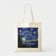 Vincent van Gogh, Starry Night Canvas Bags
