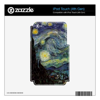 Vincent van Gogh - Starry Night Decal For iPod Touch 4G