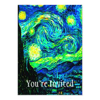 Vincent Van Gogh Starry Night Enhanced Card