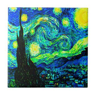 Vincent Van Gogh Starry Night Enhanced Ceramic Tile