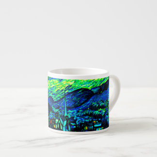 Vincent Van Gogh Starry Night Enhanced Espresso Mugs