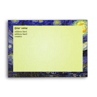Vincent van Gogh Starry Night Envelope