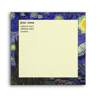 Vincent van Gogh Starry Night Envelopes