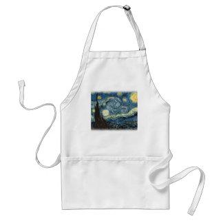 Vincent van Gogh, Starry Night. Famous art. Adult Apron