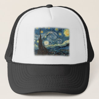 Vincent van Gogh, Starry Night. Famous art. Trucker Hat