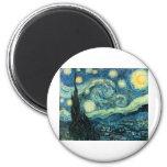 Vincent Van Gogh Starry Night Fridge Magnets