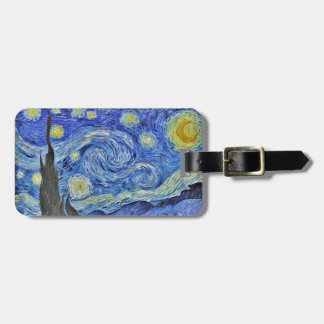 Vincent van Gogh Starry Night GalleryHD Fine Art Bag Tag