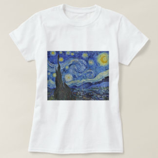 Vincent van Gogh Starry Night GalleryHD Fine Art T-Shirt