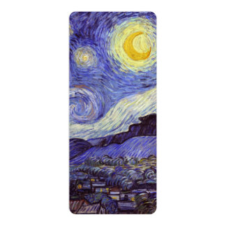 Vincent Van Gogh Starry Night Personalized Invitation