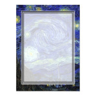 Vincent van Gogh, Starry Night Personalized Invitations