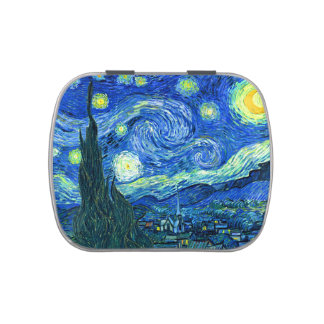 vincent van gogh starry night jelly belly tin