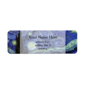 Vincent van Gogh,Starry Night Label