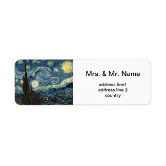 Vincent van Gogh, Starry Night Label