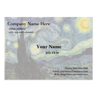 Vincent van Gogh, Starry Night Large Business Card