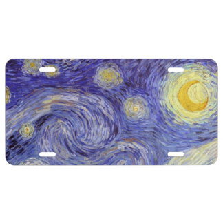 Vincent Van Gogh Starry Night License Plate