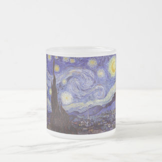 Vincent Van Gogh Starry Night 10 Oz Frosted Glass Coffee Mug