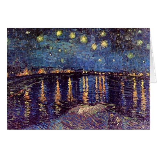Vincent Van Gogh - Starry Night on Rhone Card