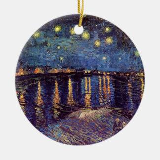 Vincent Van Gogh - Starry Night on Rhone Christmas Tree Ornaments