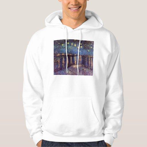 Vincent Van Gogh - Starry Night on Rhone Sweatshirt