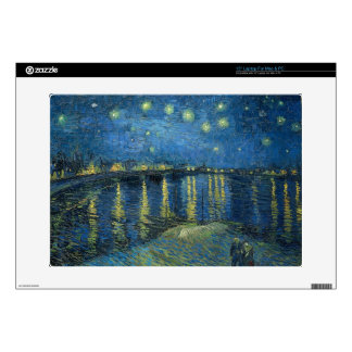 "Vincent Van Gogh Starry Night Over the Rhone 15"" Laptop Skin"