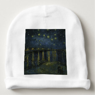 Vincent Van Gogh Starry Night Over the Rhone Art Baby Beanie