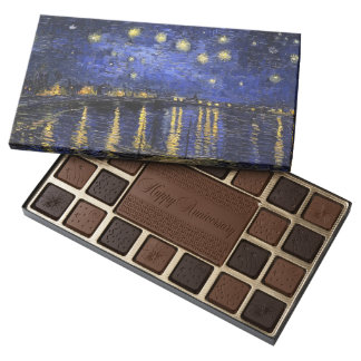 Vincent Van Gogh Starry Night Over The Rhone Assorted Chocolates