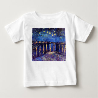 Vincent Van Gogh - Starry Night Over The Rhone Baby T-Shirt