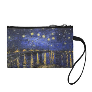 Vincent Van Gogh Starry Night Over The Rhone Coin Wallet