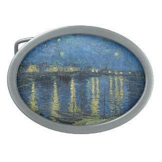Vincent Van Gogh Starry Night Over the Rhone Belt Buckles