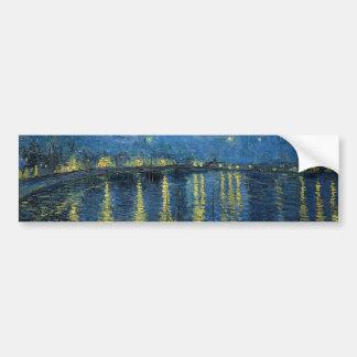 Vincent Van Gogh Starry Night Over the Rhone Bumper Sticker