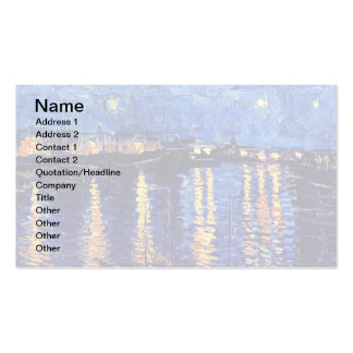 Vincent Van Gogh - Starry Night Over The Rhone Business Card