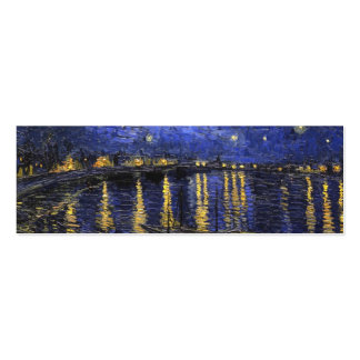 Vincent Van Gogh Starry Night Over The Rhone Double-Sided Mini Business Cards (Pack Of 20)