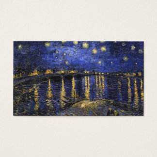 Vincent Van Gogh Starry Night Over The Rhone Business Card