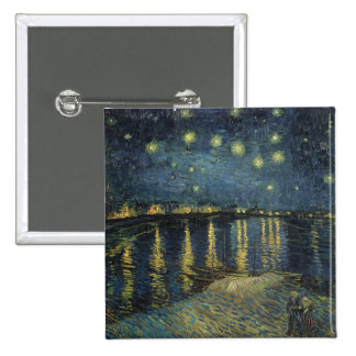 Vincent van Gogh | Starry Night Over the Rhone Button